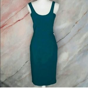 ASOS Teal Green Midi Dress with Cutout Sides 4